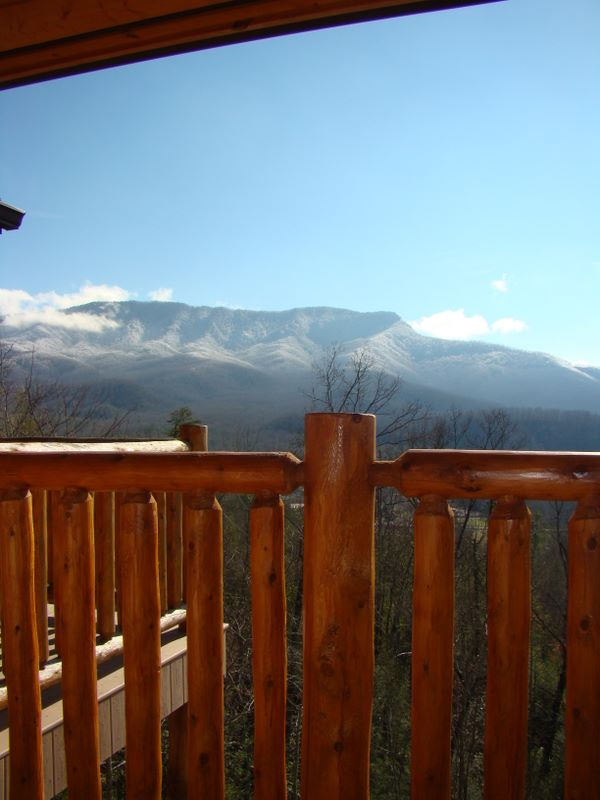 View of the Smoky Mountains from a cabin in Pinnacle View - Pittman Center, Tennessee