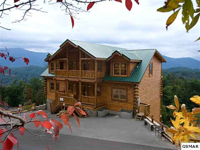 Wears Valley cabin with incredible views as a short sale. 8 bedroom cabin with over 5,000 square feet for $489,900