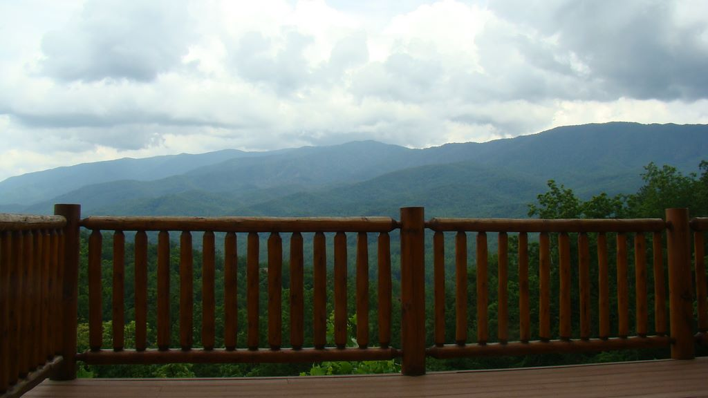 View from the deck of a cabin in Pinnacle View - Pittman Center, TN log cabin