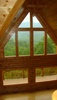 View of window wall in cabin at 514 Pinnacle Vista Drive - Pinnacle View development in Pittman Center TN