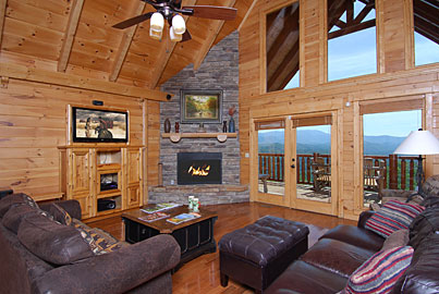 Above The Smokies Cabin Rental - Luxury Pigeon Forge Cabin with theater room and amazing view of the Smoky Mountains