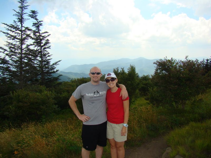 Jay Fradd and Brooke Fradd at Gregory's Bald - Great Smoky Mountains National Park hike