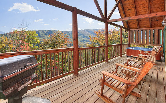 Chalet of Dreams - Pigeon Forge luxury cabin rental in Sherwood Forest Resort - a gated community with swimming pool. This cabin has a terrific mountain view and is only about 5 minutes to the Parkway in Pigeon Forge!
