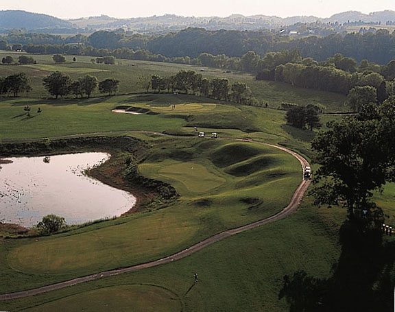 River Islands Golf Course on the French Broad River in the Boyd's Creek area of Sevier County, TN near Knoxville, Sevierville, and the Great Smoky Mountains (Click to view this photo as a larger size) - Photo courtesy of River Islands Golf Club - www.riverislandsgolf.com