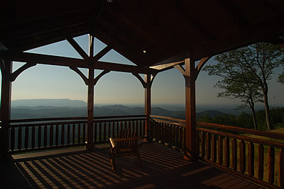 Gatlinburg luxury real estate - view from pavillion at the Enclave at Cove Mountain