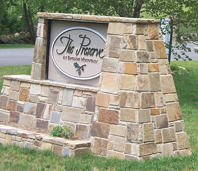 The Preserve At English Mountain Entrance - off Wilhite Road near Jones Cove TN in the Great Smoky Mountains. Upscale residential luxury development in the Smokies