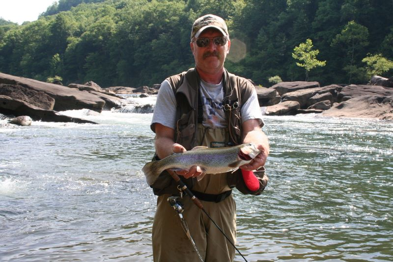 John Hudson Smith IV with a monster from the Gauley River in West Viriginia