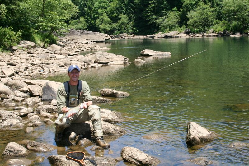 Fly fishing trip in the smoky mountains day one smoky for Elk river wv trout fishing