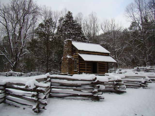 John Oliver Cabin in Cades Cove - Great Smoky Mountains National Park. Photo by Jay Fradd February 28, 2008