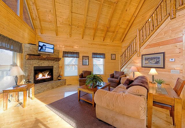 """Simply the Smokies"" - luxury cabin rental in Pigeon Forge resort named Summit View. This development is a gated community with great mountain views and just a couple minutes to Dollywood. This cabin is a 4 bedroom cabin with luxury touches and great views"