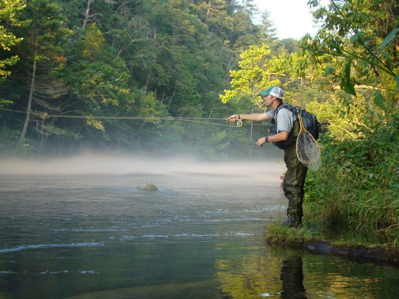 Fly fishing trip in the smoky mountains day one smoky for Tennessee trout fishing