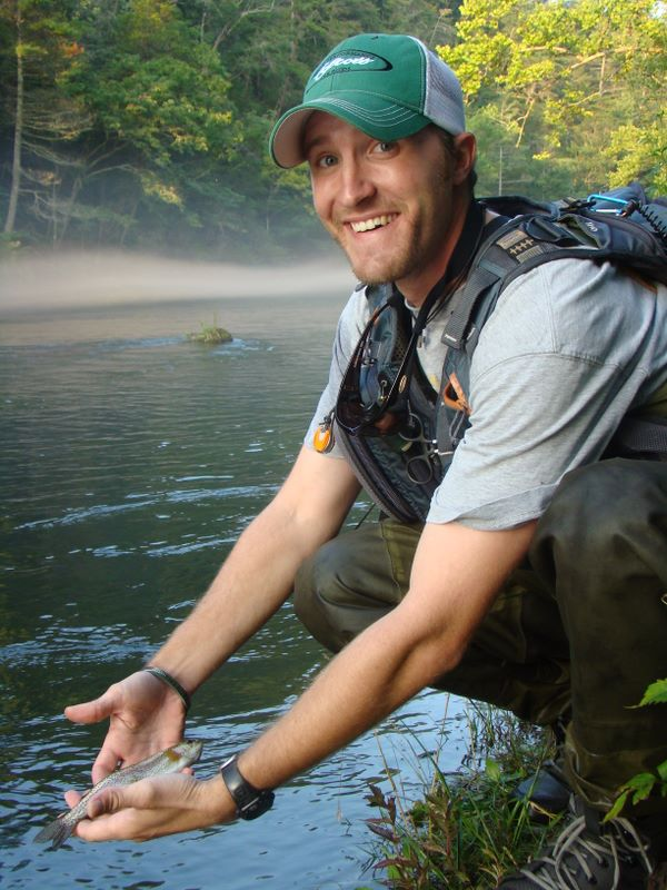 John Hudson Smith V - with a brown trout caught on the South Holston River